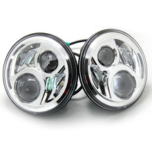 7 Inch 6 Leds Round Headlights For Jeep Wrangler 7″ LED Headlamp With H4 High Low For Hummer Toyota Land Rove defender Harley