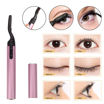 Zalotka fajne długopis elektryczny podgrzewany makijaż oczu rzęsy długotrwały kobiety makijaż narzędzia wygoda baterii, łatwy w użyciu
