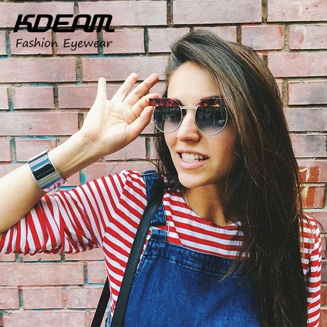 80a65870c3d KDEAM Eyewear Hign-end Street Round Sunglasses Women Hippie Steampunk Goggles  Eye-Brow Sun