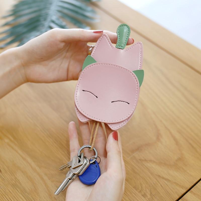 ladies cute key case leather holder fashion mutiple housekeeper keys wallet 6 colors Case High Quality cutekey bag