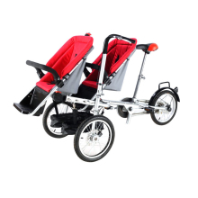 taga tourism mother ride tricycle bike vehicle 2 in 1 parent-kid yabby twins double stroller trailer