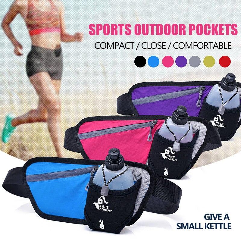 Official Website New Running Bag Hydration Belt Women Men Sport Running Waist Bag Waterproof Jogging Gym Waist Pack With Water Bottle Relojes Y Joyas