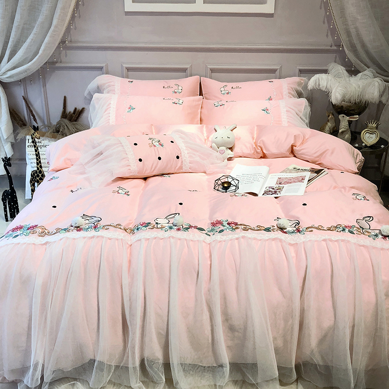 Super King Size Duvet Cover Egyptian Cotton Sweetgalas: Aliexpress.com : Buy Pink Girls Queen King Size Bedding
