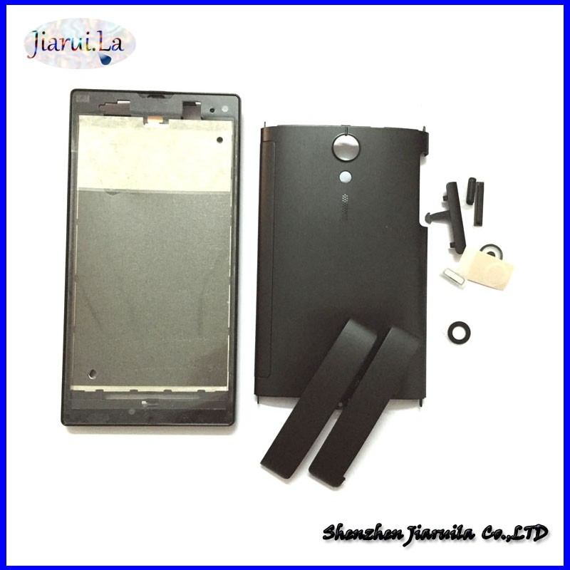 hot sales 26230 1f59a New For Sony Xperia Ion LT28i LT28H LT28 Housing Bezel Middle Bezel Back  Cover With Side Button