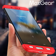 Maxgear Сяо Mi Mi5 чехол люкс 360 градусов полное покрытие антидетонационных PC Пластиковая крышка защитный чехол для телефона xiao Mi Mi5 Ми 5S