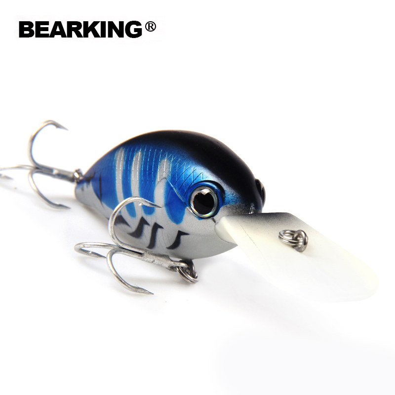 Bearking 5pcs/lot professional fishing lure crank  different colors each lot,crank 65mm&16g   dive 2.5-3.2m free shipping 5pcs lot hot model 2017 good a fishing lures 55mm 2 5g crank mixed colors dive 0 5m bearking each lot 5pcs free shipping