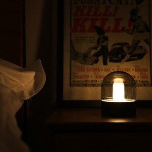 Image 4 - Vintage di Vetro Luce di Notte del USB di Ricarica Nostalgico Retrò Desktop Lampada Atmosfera di Respirazione Dimmable Comodino Camera Da Letto Lampada Da Decro