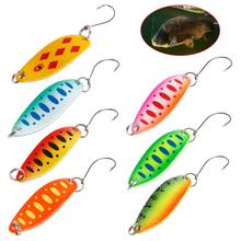 Hot Sale Fishing Spoon Colorful Artificial Hard Lure Bait Reflective Attractive Tackle 3.4cm3.5g Carp Trout Bass Accessories(China)
