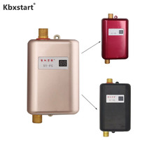 цены EU Plug Continuous Water Heater Wall Mounted Electric Water Heater Thermostat Fast Heating Durchlauferhitzer Dusche 220V