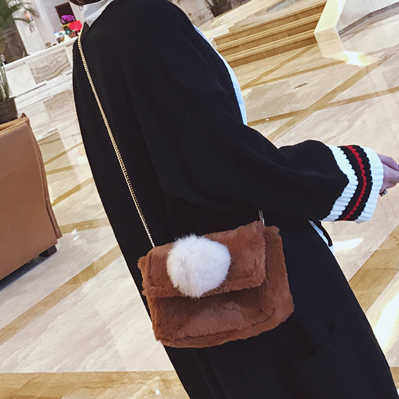 Women Small desigual bag Autumn Winter Faux Fur Cross Body Bag for Teenage  Girls Shoulder Bags Ladies small Handbags Bag-in Shoulder Bags from Luggage  ... aee3346a75ed8