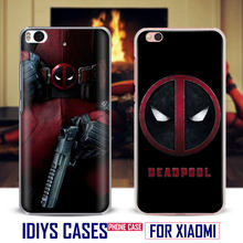 Deadpool Phone Case Shell Cover Bag For Xiaomi Redmi Note 4 4X 5A 6 6A PRO Mi 8 5 5S PLUS Max A1 Note 2 3(China)