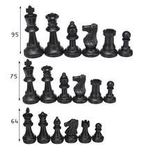 32 шт Пластиковые шахматные фигуры в комплекте, международные Шахматные игры в слова, развлечения без шахматной доски 9,5 см/7,5 см/6,4 см