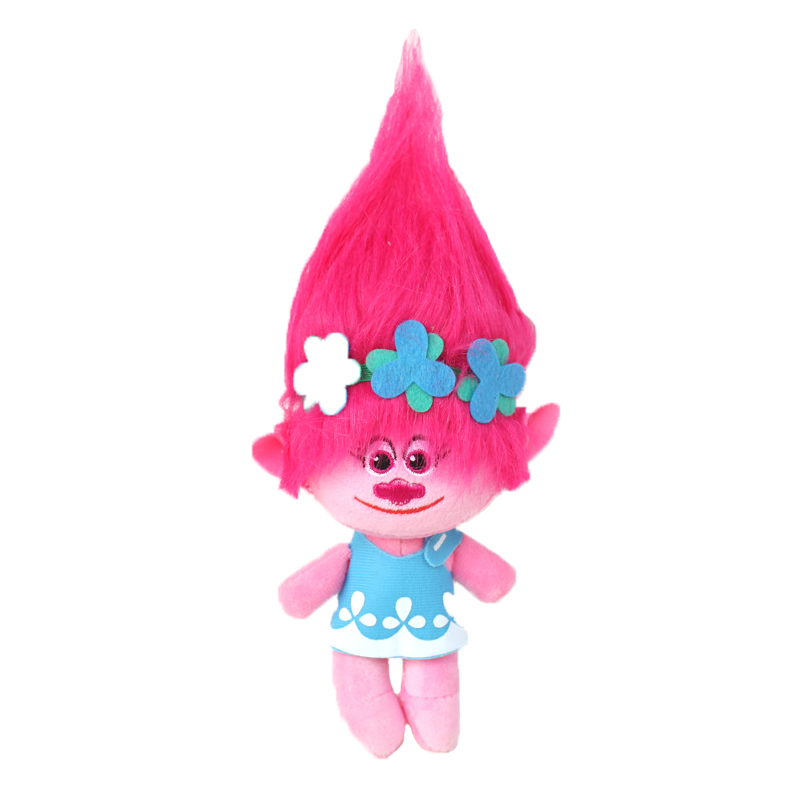 23-32cm Movie Trolls Plush Toy Poppy Branch Dream Works Soft Stuffed Cartoon Dolls The Good Luck Trolls Christmas Gift for Child big size 40cm movie trolls poppy plush toy doll poppy dream works soft stuffed toys the good luck trolls gifts for kids children