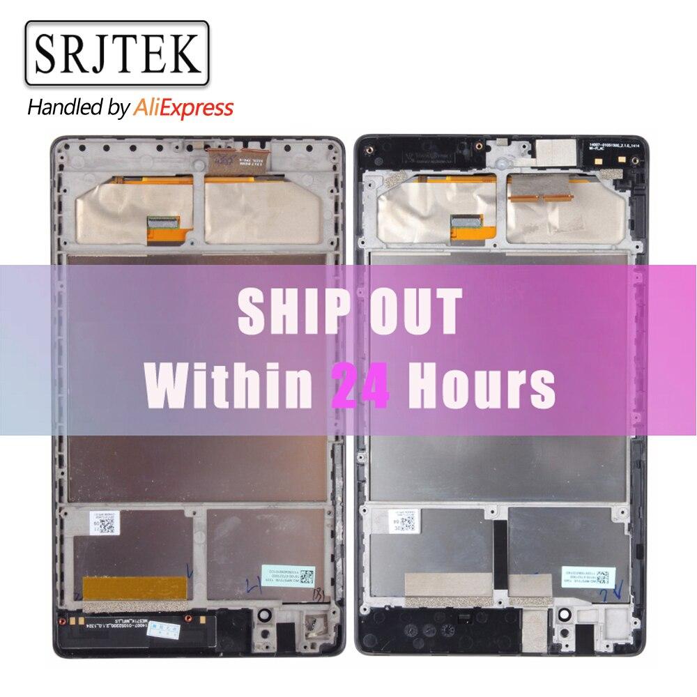 Für ASUS Google verbindung 7 2nd 2013 FHD ME571 ME571K ME571KL K008 K009 LCD Display Touchscreen Digitizer Montage mit Rahmen