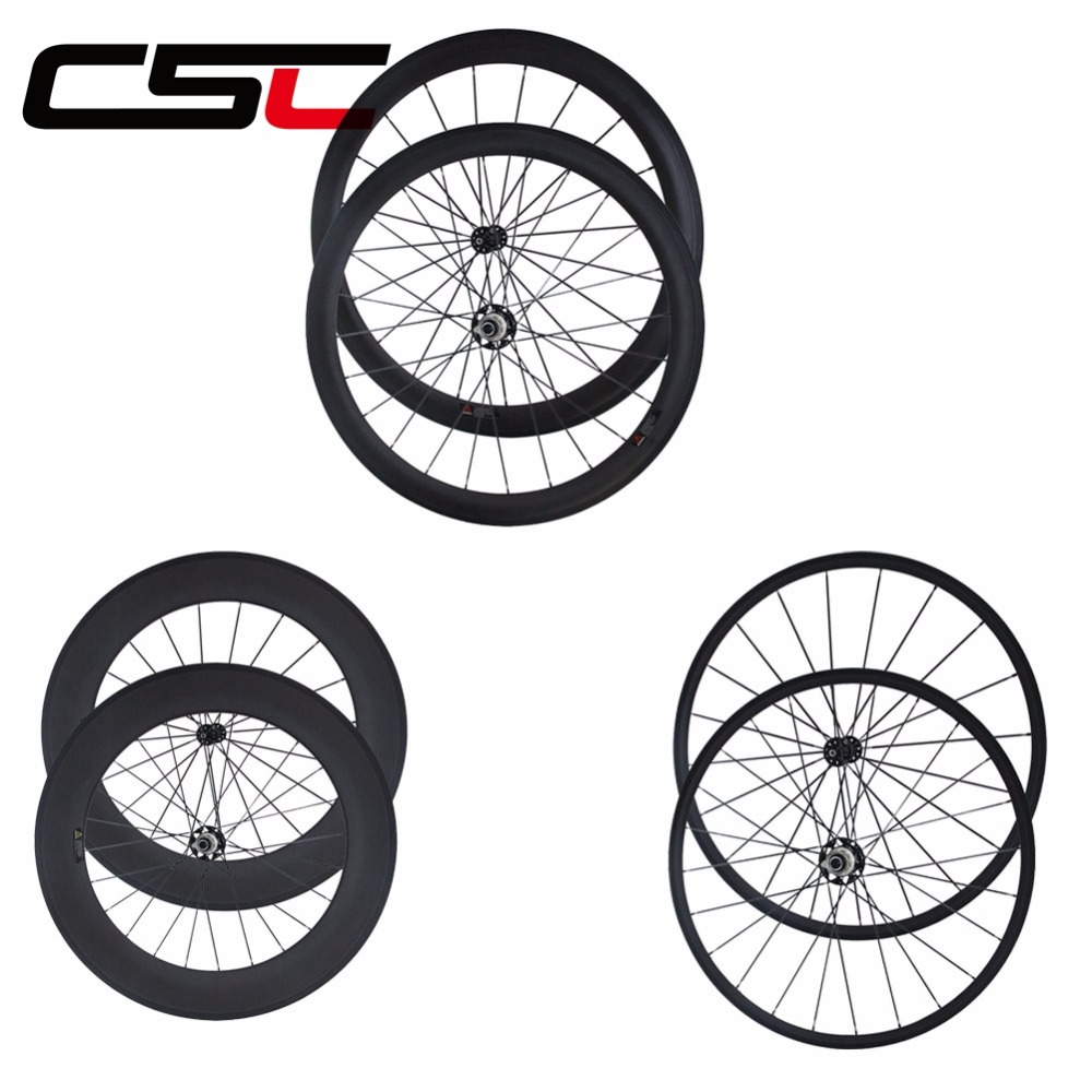 CSC 700C RIM 25mm wide 38mm 50mm 60mm 88mm carbon clincher tubular wheels Road bike with