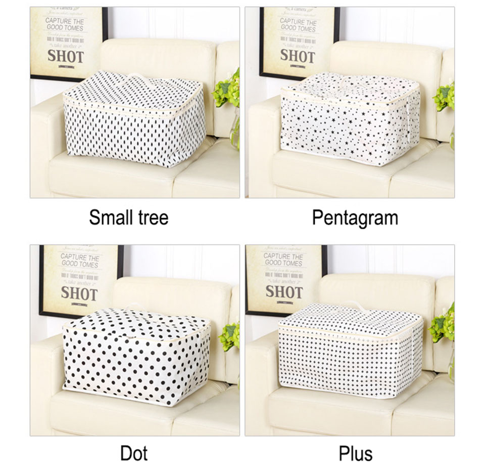 Waterproof Breathable Cotton Clothes Storage Bag Impermeabile Folding Portable Bags Organizer For Clothes Clothing storage bags (3)