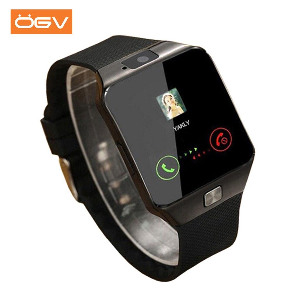 OGV Bluetooth Smart Uhr Tragbare Geräte DZ09 Elektronik Handgelenk Telefon Uhr Unterstützung SIM TF Karte Für smartphone Smartwatch