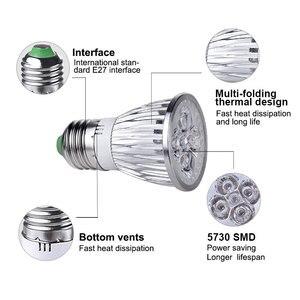 Image 2 - Wysoka dioda led dużej mocy oświetlenie do uprawy E27 pełne spektrum Fitolampy kryty rosną lampy dla roślin kwiaty nasiona rosną pudełko w kształcie namiotu wymienić światło słoneczne