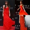 Halter Chiffon Angelina Jolie tapete vermelho Oscar vestidos Backless Chiffon longo celebridade elegante vestido de Festa