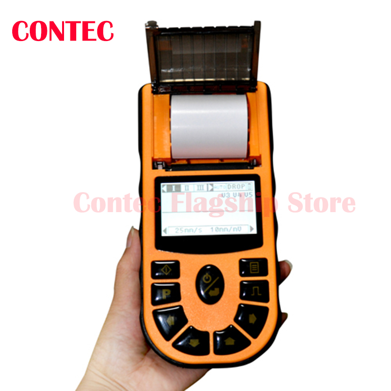 FDA CE CONTEC Handheld Portable ECG/EKG,1 Channel 12 Lead ECG80A+Software+Printer heart monitor holter Medical equipment health care ce easy handheld ecg ekg portable mini pc 80b lcd heart ekg monitor continuous measuring function usb