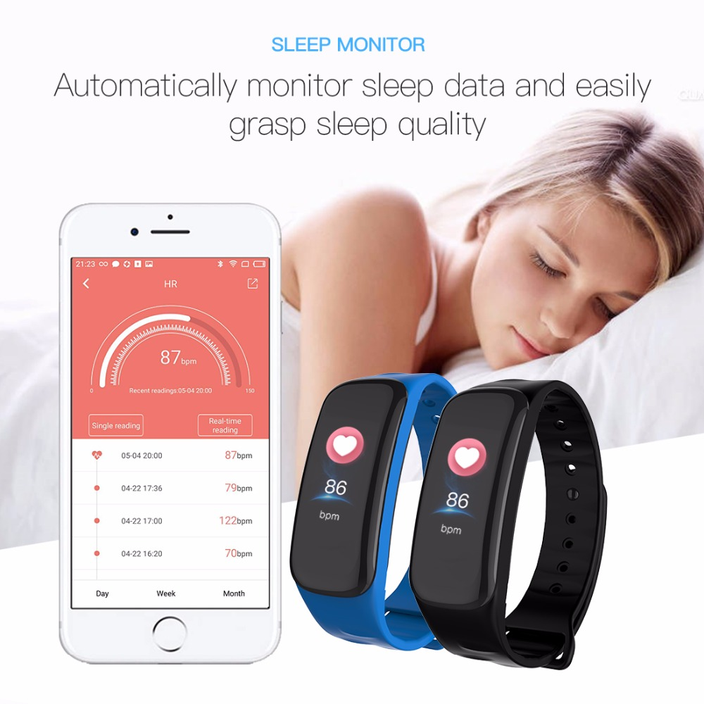 Lerbyee C1Plus Smart Bracelet Color Screen Blood Pressure Fitness Tracker Heart Rate Monitor Smart Band Sport for Android IOS 1