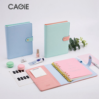 CAGIE Planner 2018 A5 Spiral Notebook 12 Month Plan Daily Plan Leather Diary Planner Personal Filofax