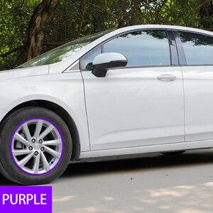 Image 5 - 8M/Roll Car Styling Wheel Rims Protector Strip Car Sticker Decorative Moulding Trim IPA Rimblades wiht 10 Colors