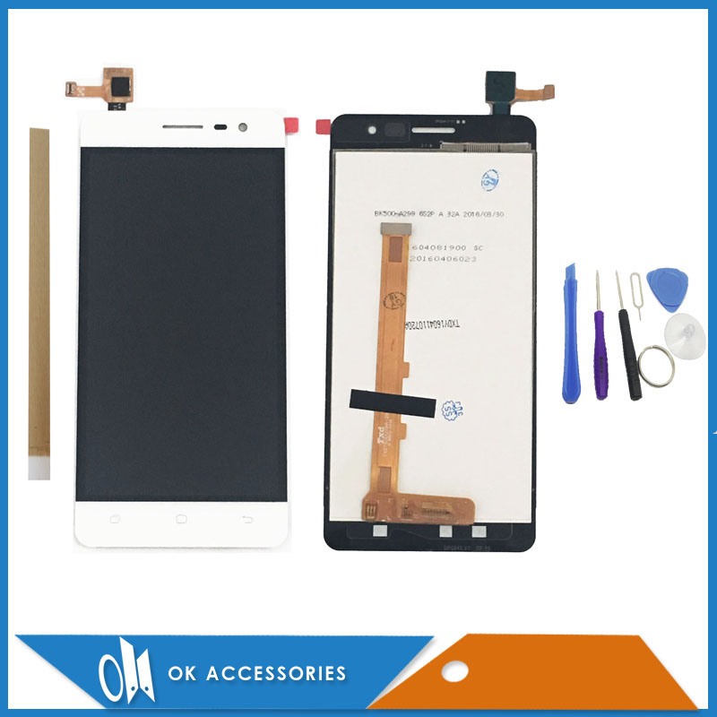 5.0 Inch 1280x720 Black White Color For Hisense C20S LCD Screen Display+Touch Screen Digitizer With Free Tools