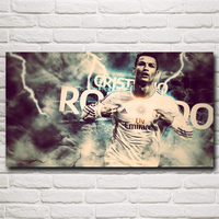 World Cup Soccer Cristiano Ronaldo Football Art Silk Posters Home Decor Pictures 11x20 16x29 20x36 Inches