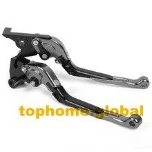 Folding Extendable Clutch Brake Levers For TRIUMPH SPEED TRIPLE 1997- 2003 CNC Adjustable 1998 1999 2000 2001 2002 Grey/BLK