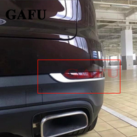 For Porsche Cayenne 2018 Rear Fog Light Cover trim Tail Fog Lights Cover Frame ABS Exterior Car Styling Accessories