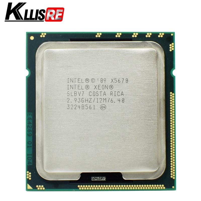 Intel Xeon x5670 Processor 2.93 ГГц LGA1366 12 МБ L3 Кэш шесть основных сервера Процессор