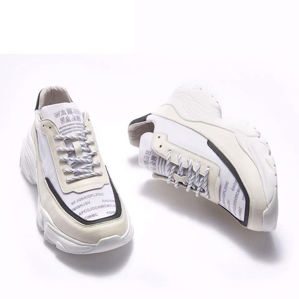 De Moda Zapatos Hombres Zapatillas Llegada Cuero 2019 Casuales Los Blanco Genuino Vulcanizados Plataforma Nueva Deporte Delivr zIqSBw5w