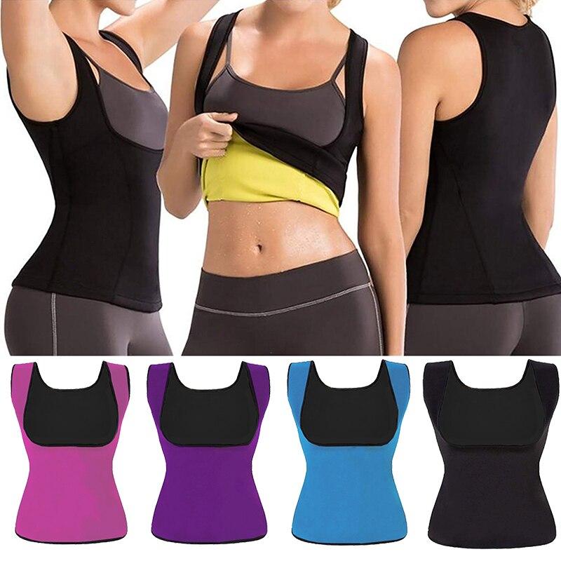 Women's Postpartum Corset Shaper Hot Sweat Workout Tank Top Slimming Vest Tummy Fat Burner Neoprene Shapewear For Weight Loss