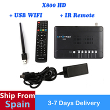 SATXTREM X800 HD+1 pc WIFI DVB-S2 Digital Satellite Receiver TV Tuner Wifi Antenna Support Cccam Newcam Biss key Youtube Youpron