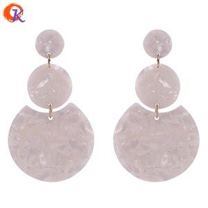 Image 3 - Cordial Design accessoires de bijouterie, 36x36MM, 50 pièces, fait à la main, perles dacide acétique, forme de pièce de monnaie ronde, boucles doreilles bijoux à bricoler soi même