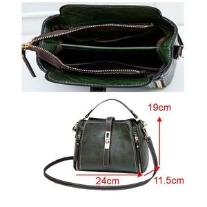 Image 5 - FUNMARDI Vintage Bucket Shoulder Bags Women Handbags Fashion PU Leather Crossbody Bag For Women Zipper Design Lady Bag WLHB1935