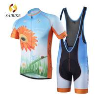 saiBike cycling Sets Ropa Ciclismo hombre verano short sleeve Cycling clothing conjunto tenue cycliste breathable Jersey