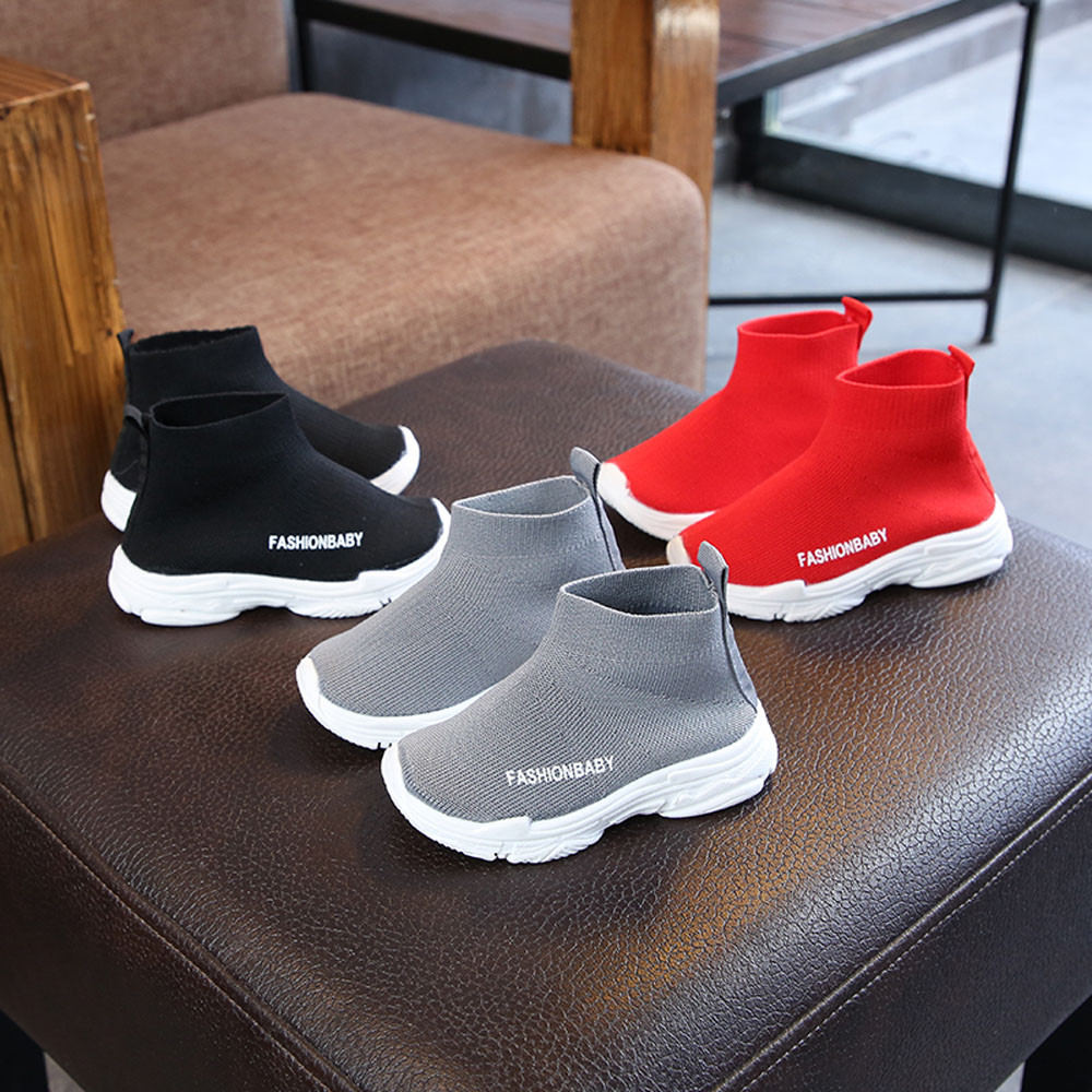 Black sport shoes for girls luminous sneakers kids shoes