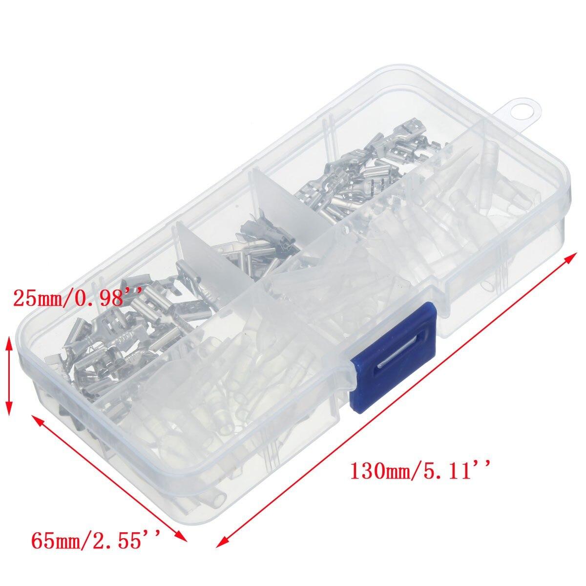 Kreativ 120 Stücke 2,8mm 4,8mm 6,3mm Crimp Isolationsklemmen Silber Transparente Weibliche Spaten Anschlüsse Hülse Kit Dämmstoffe Angenehme SüßE Elektronische Zubehör & Supplies