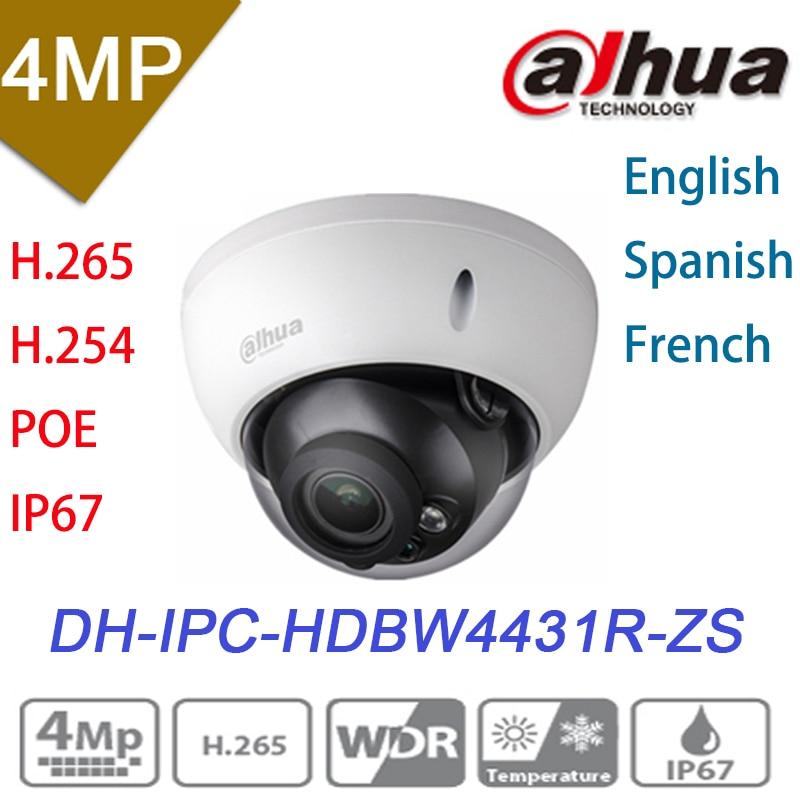 imágenes para H2.65 ipc-hdbw4431r-zs dahua ip cámara 2.8mm ~ 12mm varifocal poe lente motorizado 4mp ir50m con ranura para tarjeta sd cámara de red
