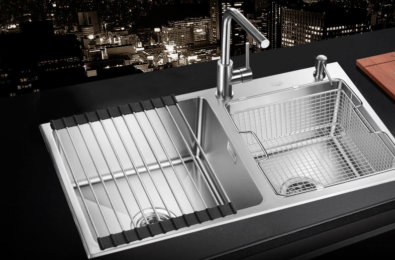 Trough Sink Kitchen #28: Free Shipping Sink Hand Double Trough Set Of Stainless Steel Imitation Hand Sink Kitchen Wash Dishes