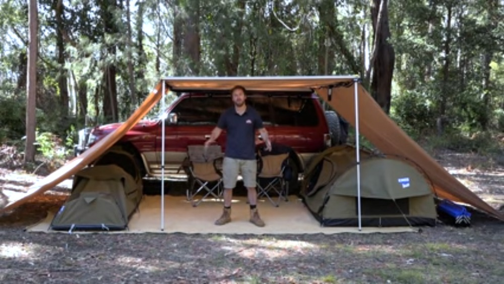 GRNTAMN car side awning Sidetent awning with two 3m extend ...