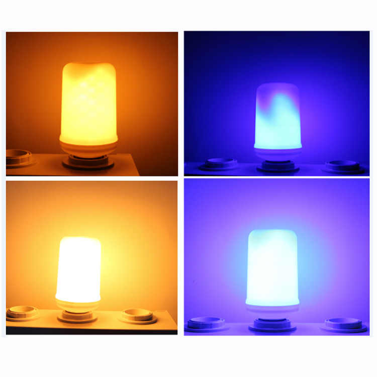 LED Flame Lamp E27 15W LED Flame Effect Light Bulb E40 E14 G4 9W 110V 220V Creative Flickering Emulation Decoration Lights