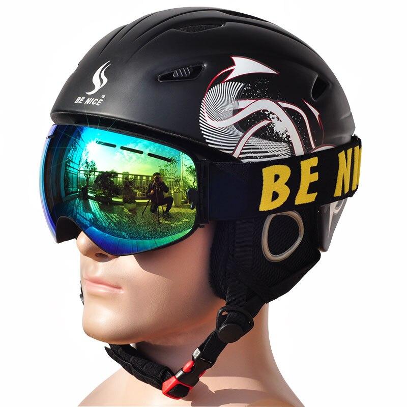 Casque de Ski professionnel coupe-vent pour hommes femmes patinage Skateboard Snowboard Sports de neige casques avec des lunettes de neige de ski