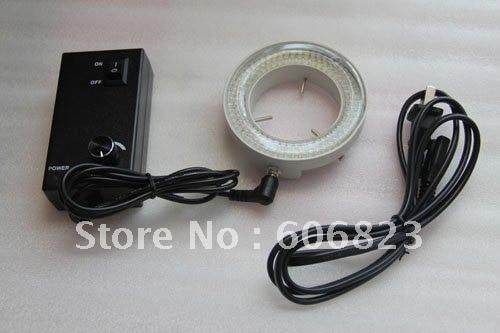 все цены на NEW 160 Bulb LED Stereo Microscope Ring Light Iluuminator zeiss ADJUSTABLE Metal shell онлайн