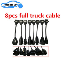8pcs Truck cables for tcs  pro truck diagnostic tool cable adapter obd2 truck cable for delphis for obd2 obdii obd