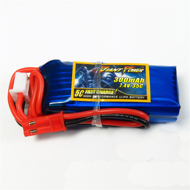 1PCS Giant Power <font><b>7.4V</b></font> <font><b>300mAh</b></font> 2S 35C <font><b>Battery</b></font> For HCP100s T-REX 150 F3P For Remotr Control Helicopter image