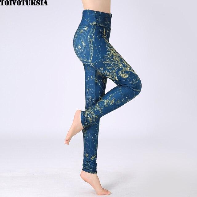 TOIVOTUKSIA Plus Size High Waist Skinny Women Leggings Brushed Milk Silk Soft Printed Clothes Women Leggings