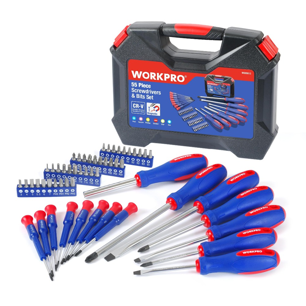 ФОТО WORKPRO 55 in 1 Multifunction Screwdrivers Repair Tool Kits Precision Screwdriver Magnetic Screwdriver
